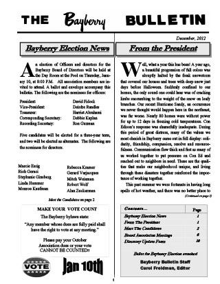 Bayberry Bulletin 2012