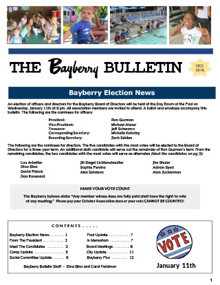 Bayberry Bulletin 2016